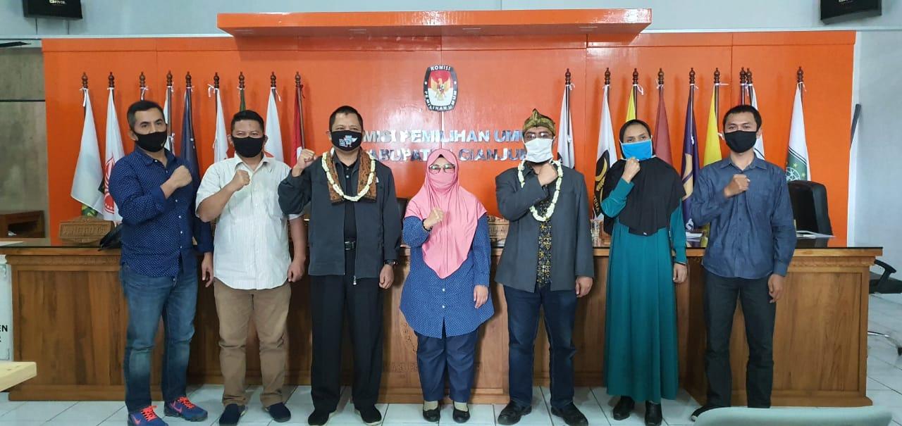 Penyambutan Sekretaris KPU Kabupaten Cianjur